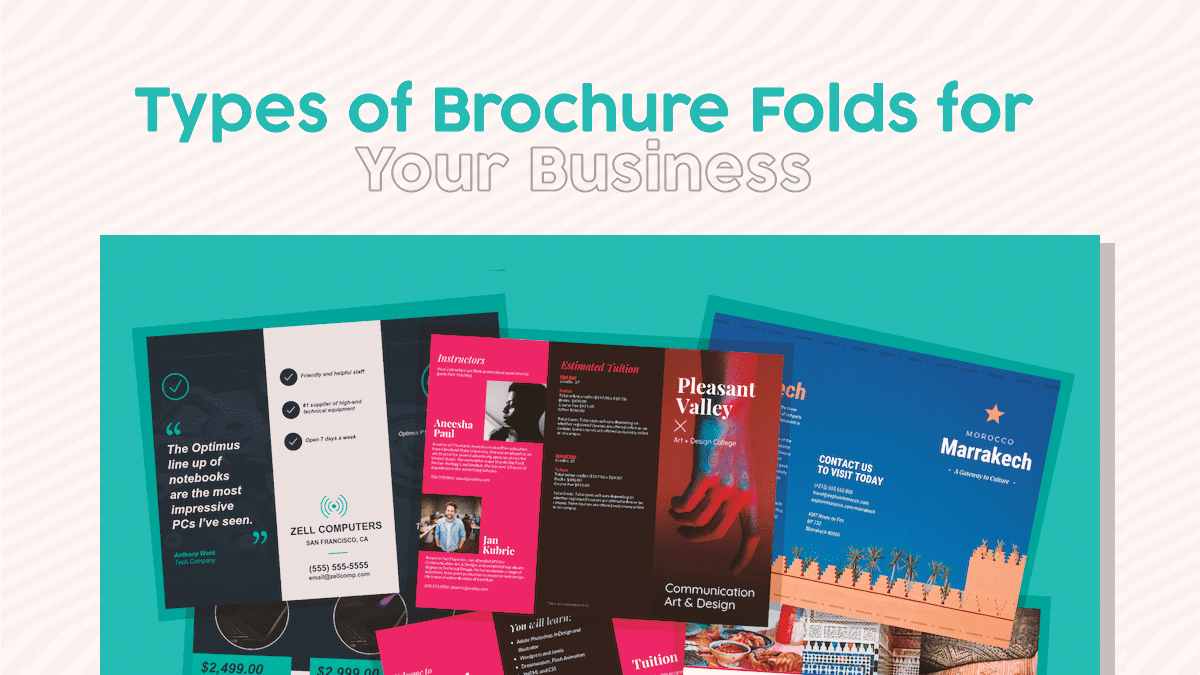 Types of Brochure Folds for your Business!