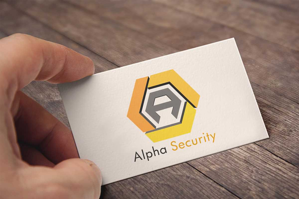 brochure design, Alpha-Security_vcard