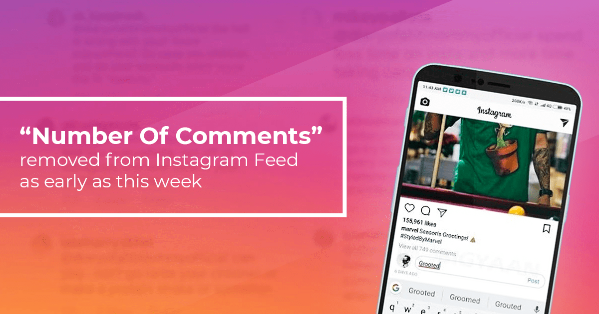 Number Of Comments Removed From Instagram Feed