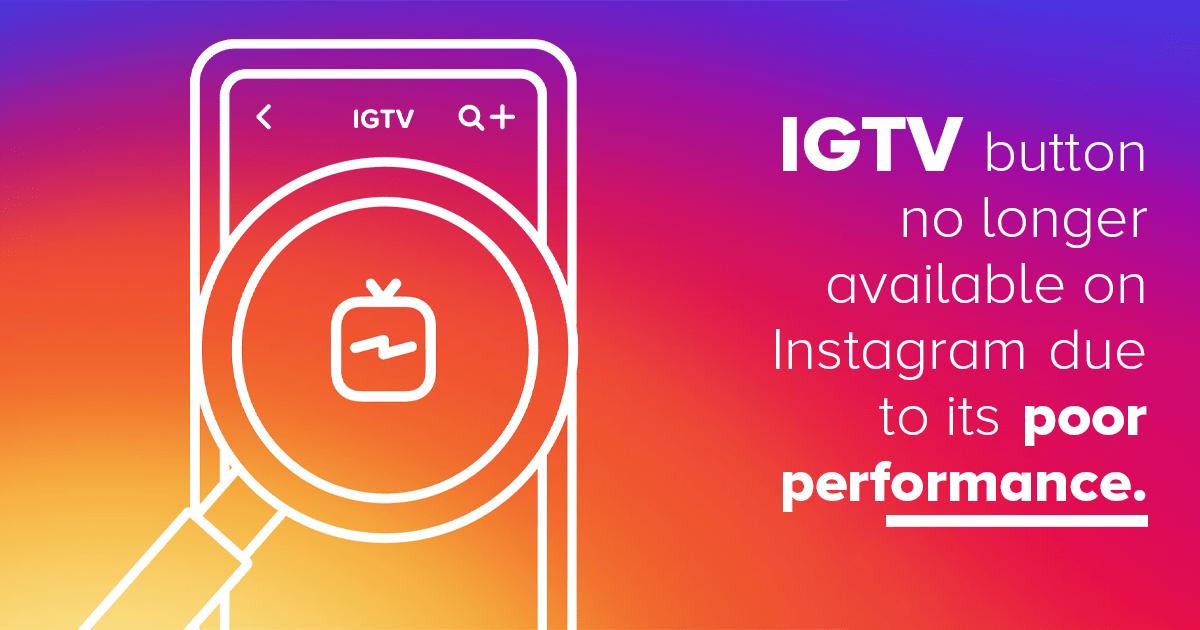 IGTV Button on Instagram