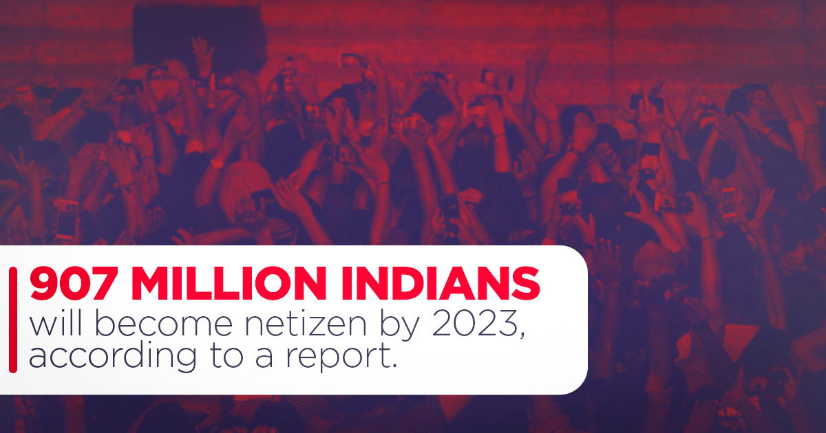 Indians will become netizen by 2023