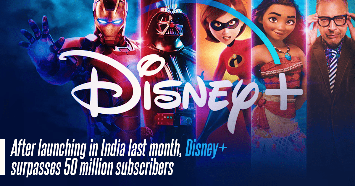 Disney Plus Surpasses 50 Million Subscribers