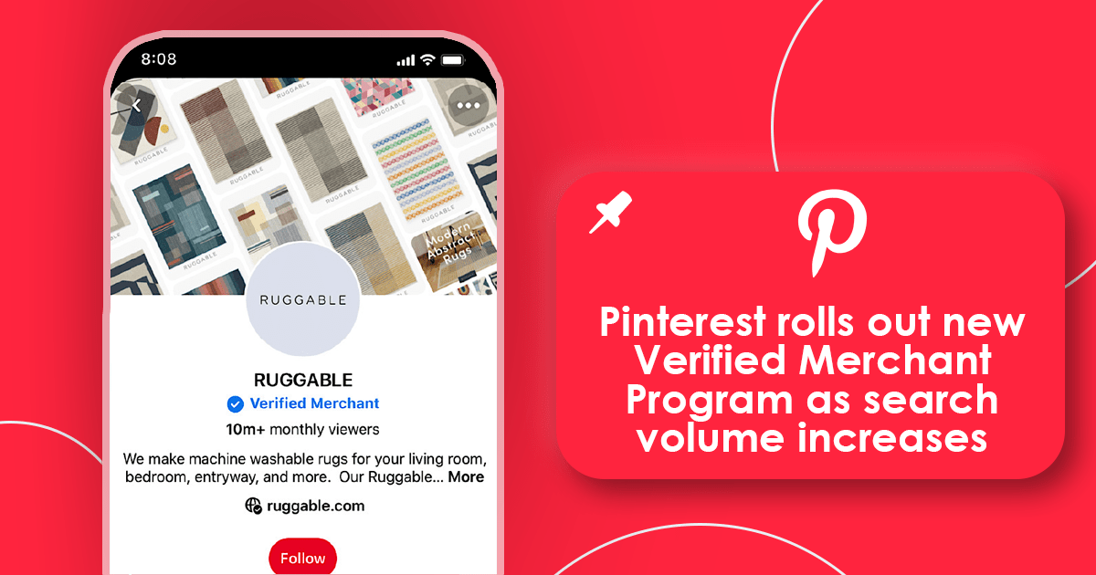 Pinterest rolls out new Verified Merchant Program
